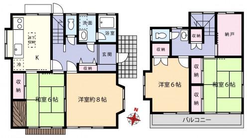 橋本駅バス通勤敷地内駐車場2台分ペット相談可4DKS貸家