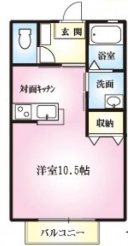 町田市小山町 単身者・広め洋室バストイレ別1R・対面式キッチン 積水ハウス施工アパート物件情報