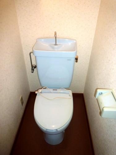 相模原市上溝ウッドデッキ付貸家物件情報(有)リビングホームリゾネット小形2トイレ