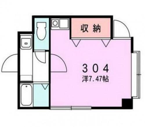ベルカント302号室 間取り画像
