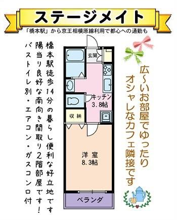 相模原市緑区東橋本学生単身者用賃貸1Kアパート橋本駅徒歩圏物件情報(有)リビングホーム
