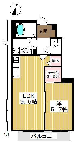 人気の間取りで豊富な収納と設備が快適なお部屋。