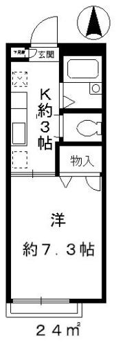 キッチンも少し広めのお部屋なのでゆとりの間取り。