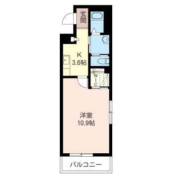 洋室10.9帖 キッチン3.6帖の余裕の室内です!